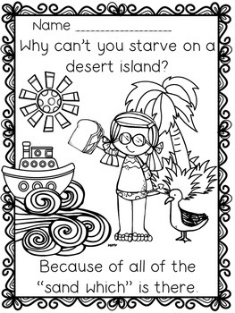 "May Spring & Summer ""Just For Fun"" Coloring Joke Book Printables"