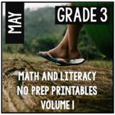 May Spring Summer Third Grade Math and Literacy NO PREP Co