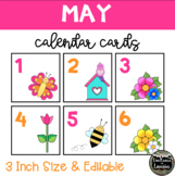 May Spring Time Calendar Cards (3 INCH)