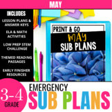 May Sub Plans for 3rd & 4th Grade: Ready-to-use lesson pla