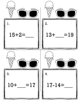 May Summer 1st Grade {Scoot Game/Task Cards} Math Bundle