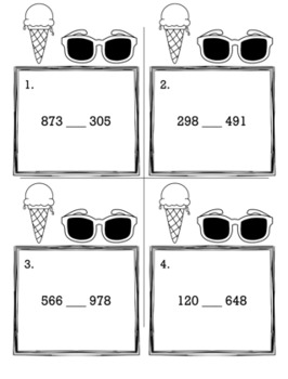 May Summer 2nd Grade {Scoot Game/Task Cards} Math Bundle