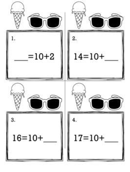 May Summer Kindergarten {Scoot Game/Task Cards} Math Bundle