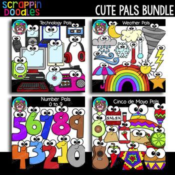 Cute Pals Clip Art Bundle {Scrappin Doodles Clip Art}