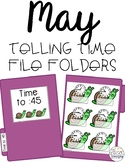 May Telling Time File Folders for Special Education