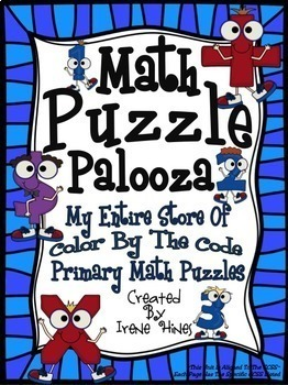 Color By Number Math Puzzle Palooza: My Entire Store Of Math Puzzles!