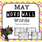 May Thematic Word Wall Words {86 Words for Mother's Day, Memorial Day, & More!}