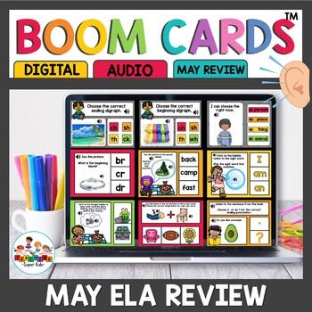 May Themed Boom Cards ELA Bundle