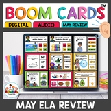 May Themed Boom Cards ELA Bundle
