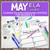 May Themed ELA Centers + Digital Bundle