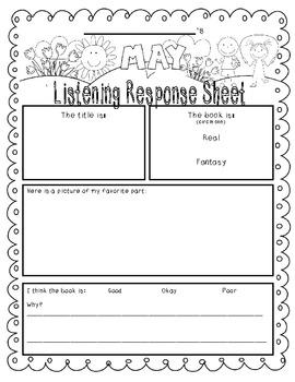 May-Themed Listening Response--SAMPLE version