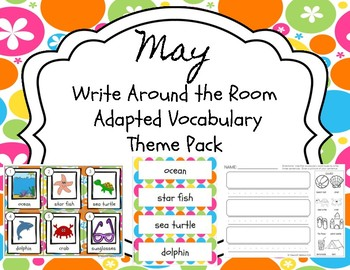 May Themed Write Around the Room Adapted Vocabulary