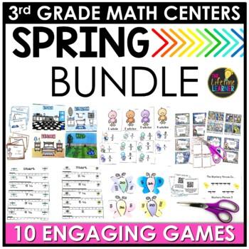 May Third Grade Math Centers BUNDLE