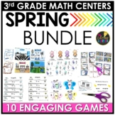 May Spring 3rd Grade Math Centers BUNDLE