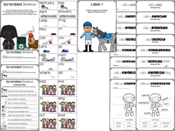 May Time!  Writing and Labeling Packet