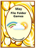Spring May Math and Literacy Interactive File Folder Games