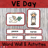 May - VE Day - Word Wall Words and Puzzle Activity - Vocabulary
