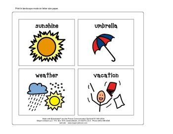 May Vocabulary Cards