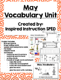May Vocabulary Unit for Early Elementary or Students with