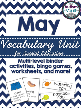 May Vocabulary Unit for Special  Education