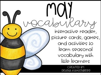 May Vocabulary {Vocabulary Cards, Mini-Reader, Activities}