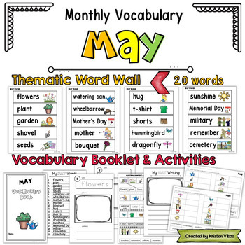 May Vocabulary: Word Wall, Booklet and Activities