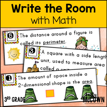 May WRITE THE ROOM with Math - 3rd Grade