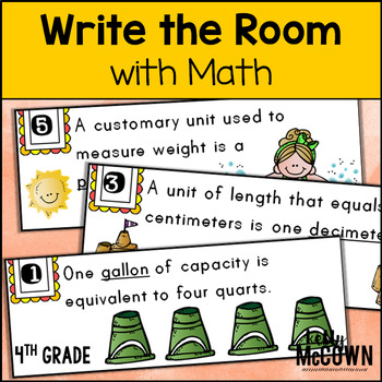 May WRITE THE ROOM with Math - 4th Grade