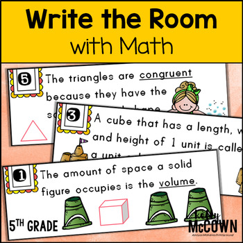 May WRITE THE ROOM with Math - 5th Grade