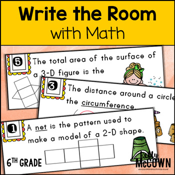 May WRITE THE ROOM with Math - 6th Grade