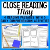 Reading Comprehension Passages and Question - May - Mother's Day - Cinco de Mayo