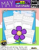 May Word of the Day Vocabulary Cut and Paste Activities