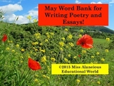 May Word Bank for Writing Poetry and Essays!