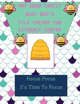 Word Family Busy Bee's Literacy Center Week 1 & 2 (ine, ive, ell, ink)