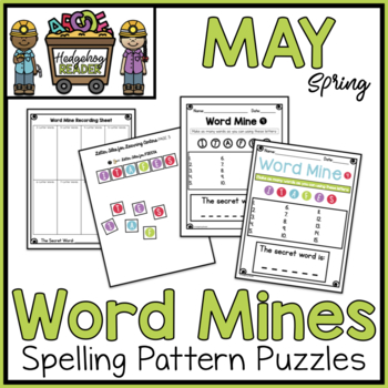 May Word Mines  -  CCSS Spelling Puzzles