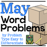 May Word Problems | End-of-the-Year EDITABLE & DIGITAL Word Problems