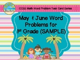 May Word Problems for 1st Grade (SAMPLE)