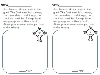 May Word Problems for First Graders (A freebie Sample)