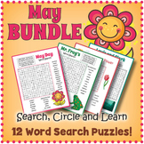 May Word Search Puzzle Bundle