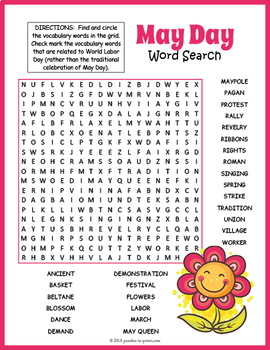 May Word Search BUNDLE