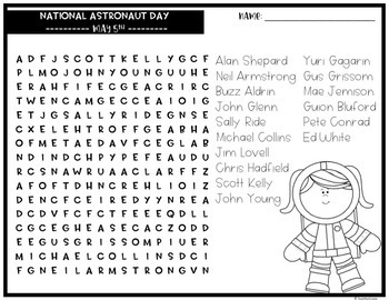 May Word Search Puzzles