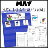 May Word Wall Calendar Pocket Chart Activity