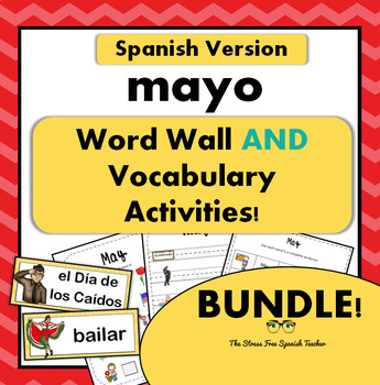 May Word Wall Cards AND Activities! Spanish version