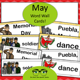 May Word Wall Cards!  English version - Cinco de Mayo, Memorial Day