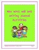 May Word Wall and Journal Writing Activities
