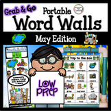 May Word Walls: Zoo, Pond, Fruit, Vegetables, Baseball, Co