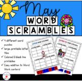 May Word Work: Word Scramble Puzzles
