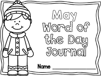 May Word of the Day Journal