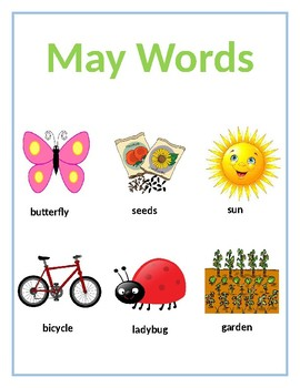 May Words Poster