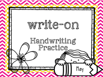 May Write-On (  Handwriting practice for 1st grade)